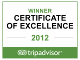 The Copplehouse Bed and Breakfast receives a TripAdvisor Certificate of Excellence Award